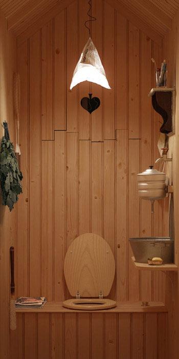 дизайн туалета для дачи