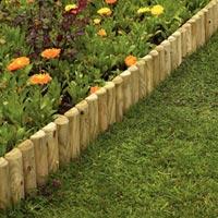 ограда для клумбы деревянная