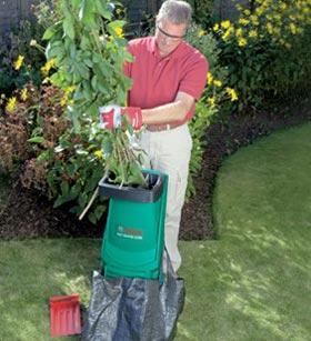 шредер садовый для травы и веток